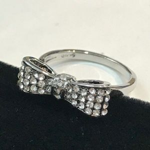 Jewelry - Sterling Silver White Sapphire Bow Knot ring